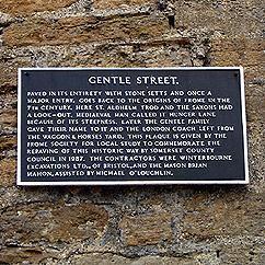 Gentle Street plaque